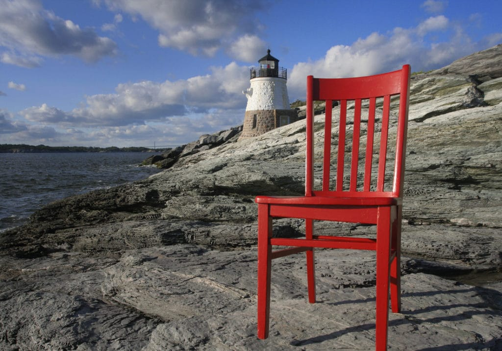 The Red Chair Travels to Newport and the Samuel Durfee House 3