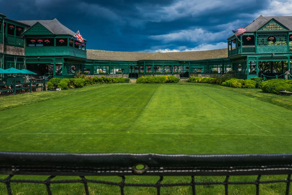 The famed grass courts at the International Tennis Hall of Fame in Newport RI